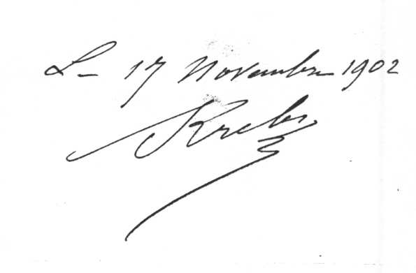 Signature d'Arthur Krebs : le carburateur automatique 17 nov. 1902
